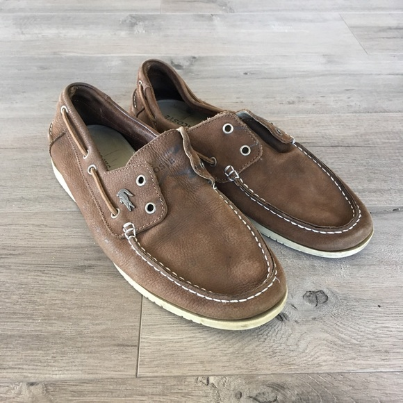 f75b0fd0e Lacoste Other - LACOSTE ~ men s brown leather loafer boat shoe